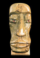 African Head - Wood, stone